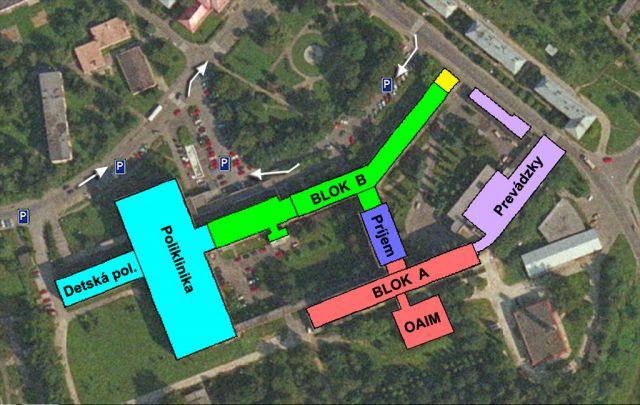 Mapa Nemocnice
