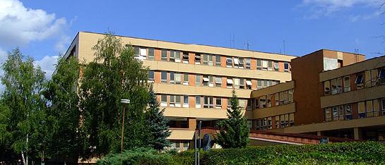 pohľad na nemocnicu
